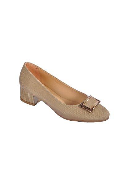 Maje Kadın Altın Topuklu Ayakkabı 6032