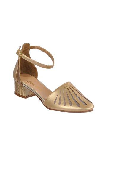 Maje Kadın Altın Topuklu Ayakkabı
