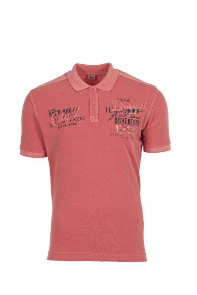 Arma Erkek Pembe Baskılı  Polo Yaka T-Shirt