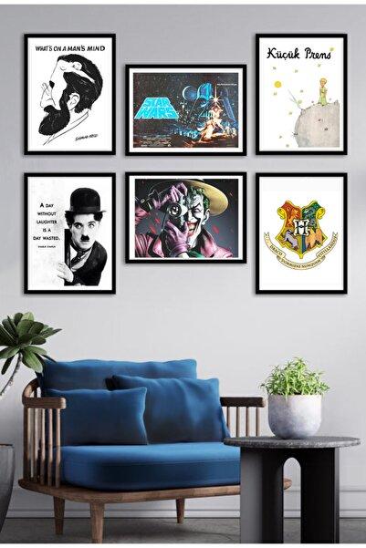 Mia Pera 6 Lı Poster Seti Freud Charlie Chaplin Star Wars Joker Küçük Prens Harry Potter (17,5 X 25 CM)
