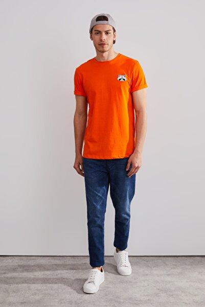 Northlight Unisex Turuncu Rakun Nakışlı Kısa Kol T-shirt