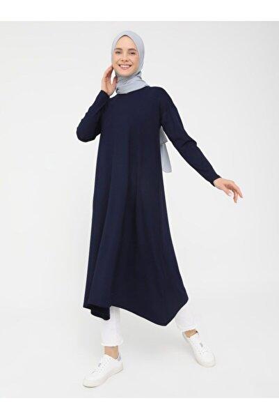 Refka Kadın Lacivert  Asimetrik Tunik