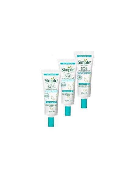 Simple Daily Skin Detox Sos Yağlı/Karma Ciltler İçin Sos Sivilce Jeli /Matlaştırıcı Jel 25 ml 3 Adet