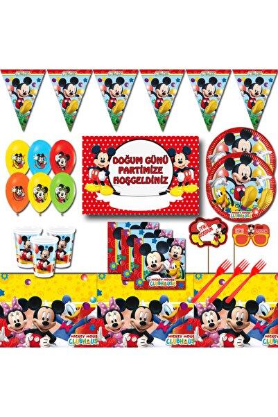 Mickey Mouse Afişli 16 Kişilik Doğum Günü Parti Malzemeleri Seti