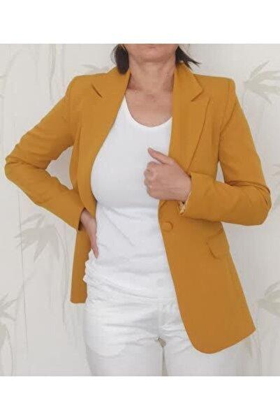 Ashley Tek Düğme Blazer Ceket