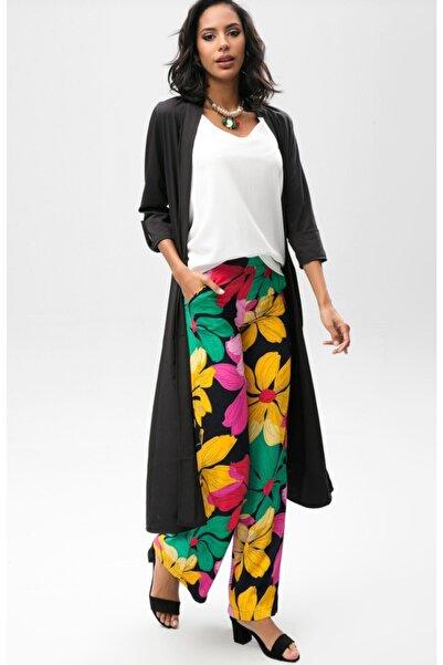 NEW LAVİVA Kadın Siyah Uzun Ceket