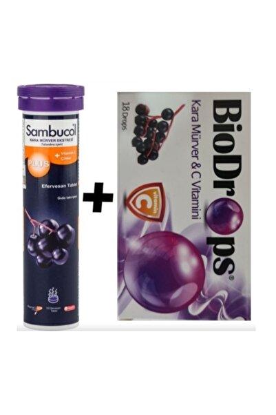 Sambucol Plus Kara Mürver Bitki Özütlü Efervesan Ve Biodrops Kara Mürverli Pastil