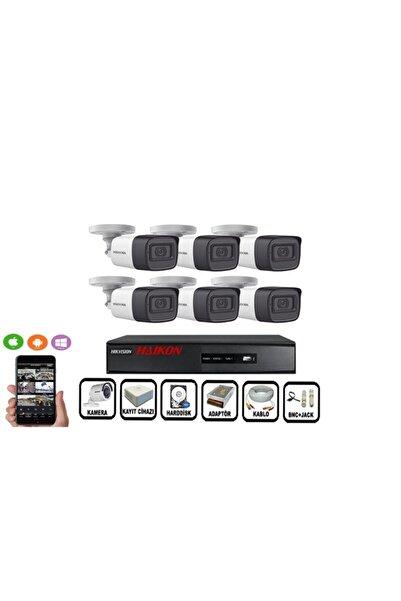 Haikon 6 Kameralı Güvenlik Paket Set Hdd Dahil Gece Görüşlü 6