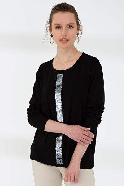 Pierre Cardin Sıyah Kadın T-Shirt G022SZ011.000.904108