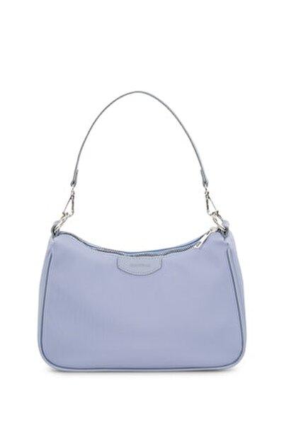 Kadın Bebe Mavi Baguette Çanta 206