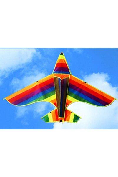 MAVİKRALİYETİLAN Gökkuşağı Uçak 1.sınıf Çadır Kumaşından Yapılmış 2021 Model Yeni Uçurtma En 120 cm Boy 80 cm