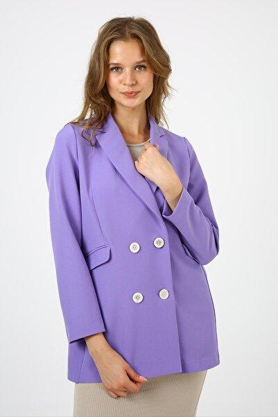 ALEXANDERGARDI Kadın Mor Blazer Ceket (b21-20400)