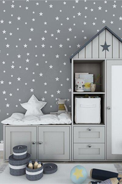 Nino Kiwi Decor Yıldız Duvar Sticker Bebek Ve Çocuk Odası Dekoratif Duvar Çıkartma 3-4-5 Cm 130 Adet Beyaz
