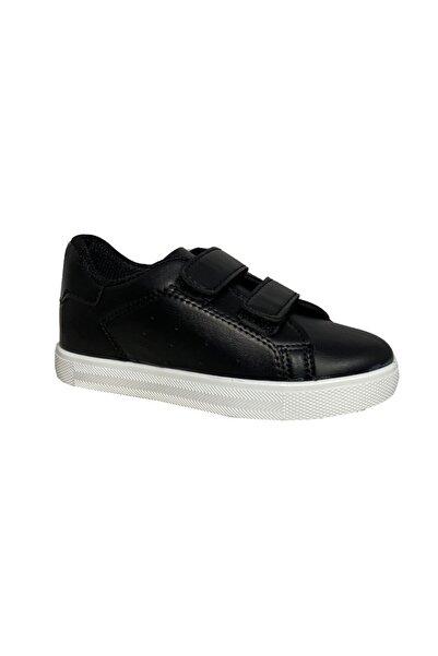 Master Unisex Çocuk Siyah Cırtlı Yürüyüş Ayakkabısı