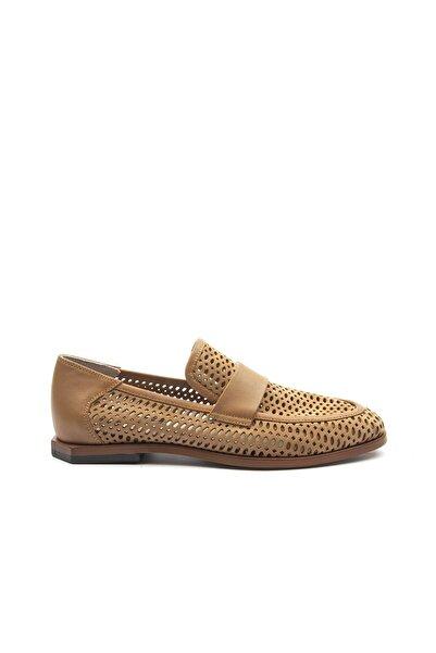 TOGO Kadın Yüzey Delikli Kemerli Klasik Ayakkabı