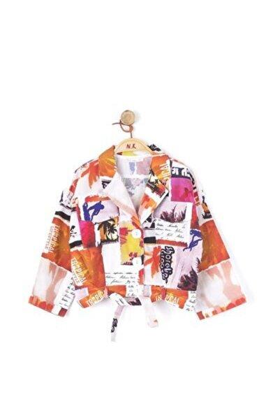 NK Kız Çocuk Turuncu Desenli Ceket
