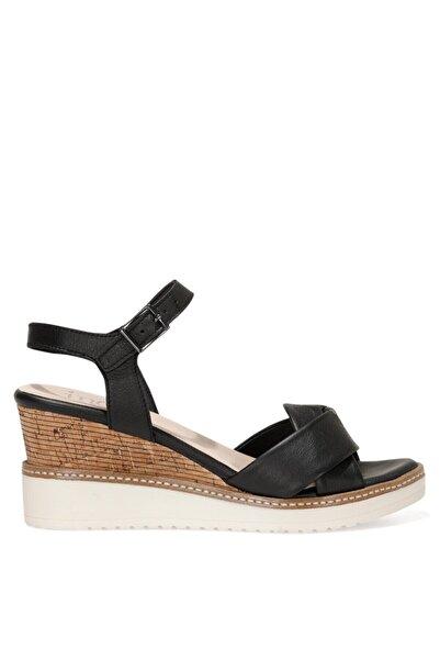 İnci TERI.Z 1FX Siyah Kadın Dolgu Topuklu Sandalet 101033769