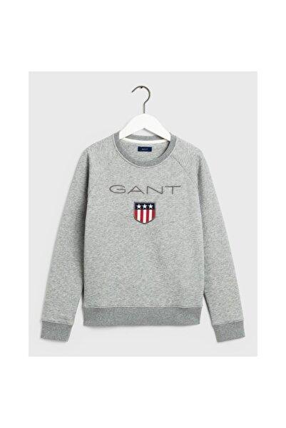 Gant Kadın Gri Bisiklet Yaka Sweatshirt