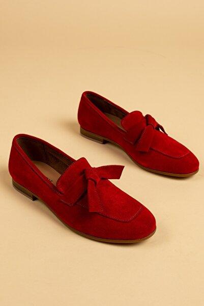 Deery Kırmızı Kadın Loafer Ayakkabı 01744ZKRMM01