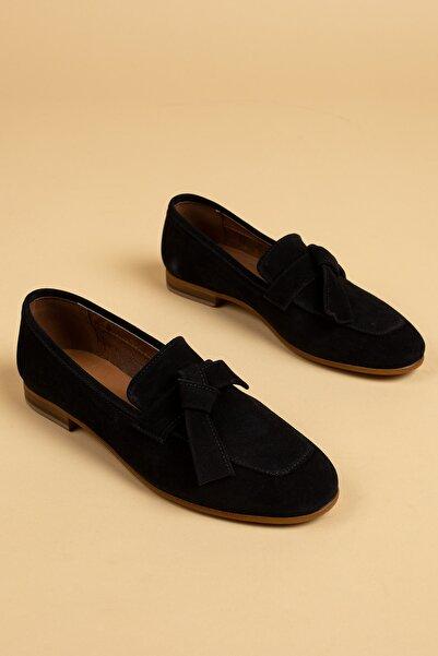 Deery Siyah Kadın Loafer Ayakkabı 01744ZYSLM01