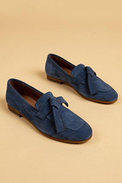 Deery Mavi Kadın Loafer Ayakkabı 01744ZMVIM01