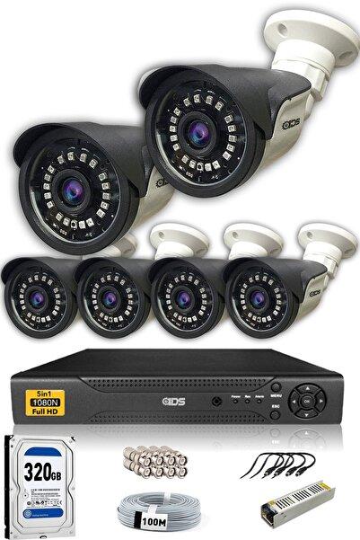 IDS 6 Kameralı Set - 5mp Sony Lensli Full Hd Gece Görüşlü Güvenlik Kamerası Sistemi - Cepten Izle