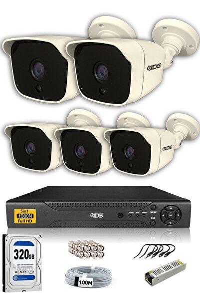 IDS 5 Kameralı Set  5mp Sony Lensli Full Hd Gece Görüşlü Güvenlik Kamerası Sistemi  Cepten Izle