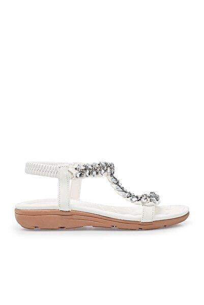 Guja Kadın Beyaz  Taşlı Sandalet  38921y12012
