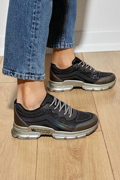 Tonny Black Kadın Bronz Spor Ayakkabı Dgf134