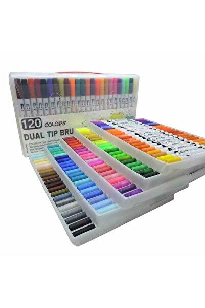 armex Brushpen Ve Fineliner 120 Renk Çift Taraflı Boyama Işarteleme Ve Yazı Kalem
