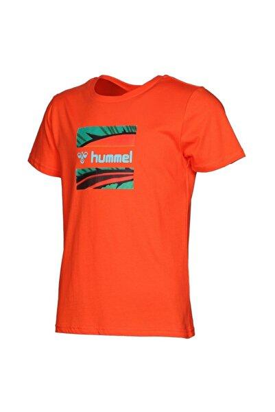 HUMMEL Kız Çocuk Turuncu Baskılı T-Shirt Hml Aklid T-shirt S/s Tee