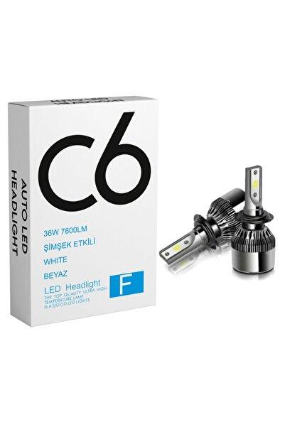 c6 led H7 Led Zenon 36w 7600lm 6500k C6 Far Ampülü Led Işık 2 Adet Seri-xenled