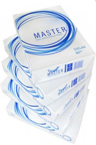 Sarf Sepeti Master A4 Fotokopi Kağıdı Yüksek Baskı Kaliteli 80gr 1 Paket 500 Adet