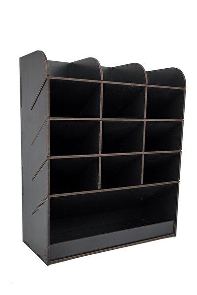 woodsia Mirage Masaüstü Kalemlik Organizer Ofis Düzenleyici Hediyelik Kalemlik(siyah)