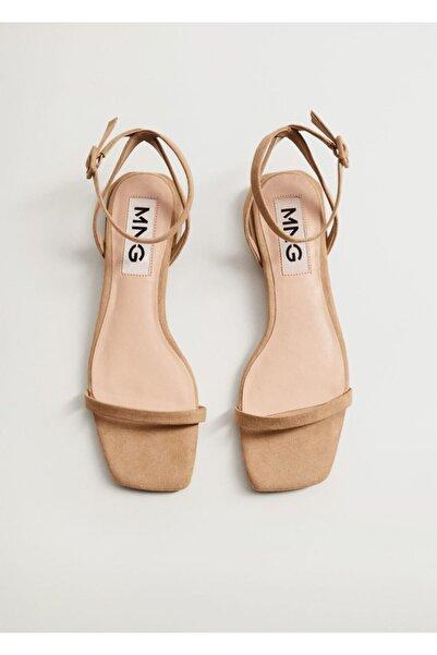 MANGO Woman Bilekten Bağlamalı Sandalet