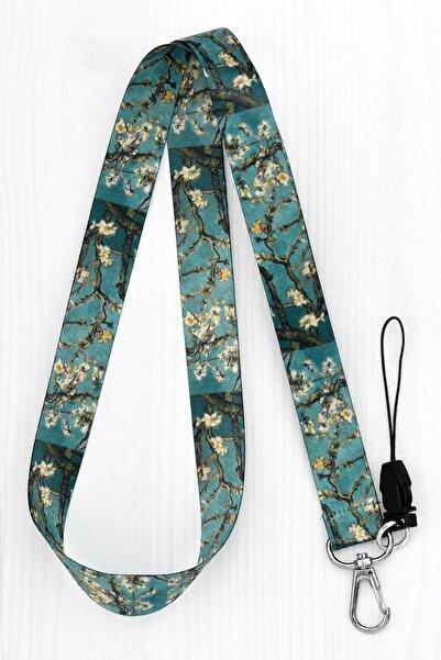 Apptakı Van Gogh Badem Ağacı Yaka Kartı Boyun Ipi Telefon Askısı - Ask0115