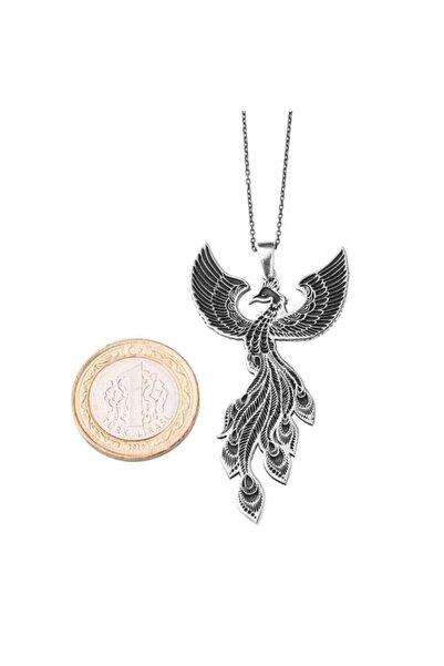 Anı Yüzük Kadın Gümüş 925 Ayar Zümrüdüanka Kolye