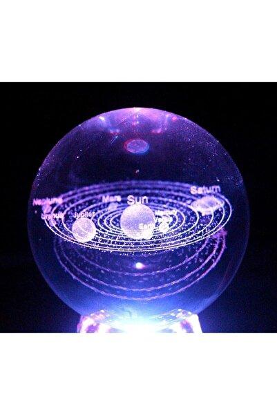 ÇILGIN Güneş Sistemi Işıklı Cam Küre