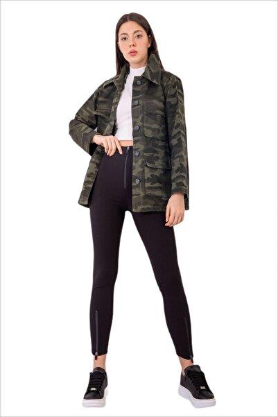 Almeri Kadın Çok Cepli Safari Ceket