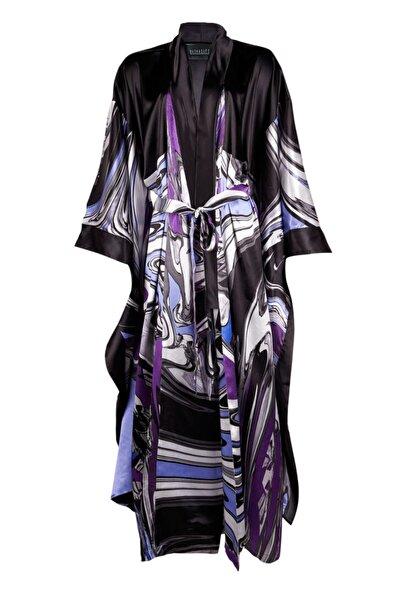 Bashaques Kadın Mor Desenli Dreamy Kimono