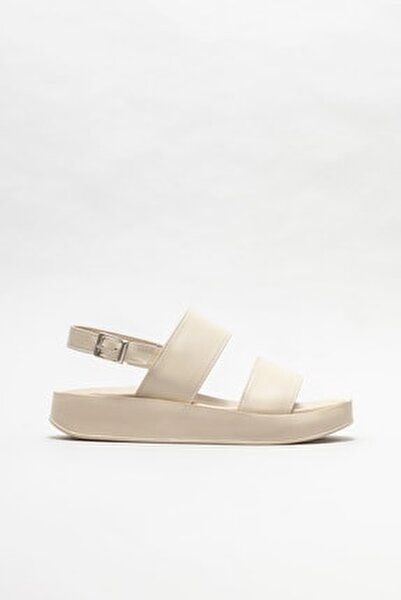Kadın Bej Dolgu Topuklu Sandalet