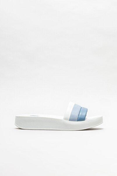 Elle Shoes Kadın Mavi Dolgu Topuklu Terlik