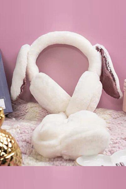 YOYOSO Kulakları Hareket Eden Tavşan Kulaklık Bej