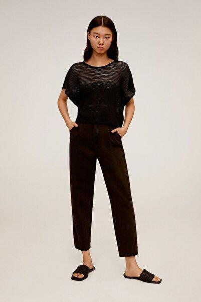 Mango Kadın Siyah T-Shirt 67007721