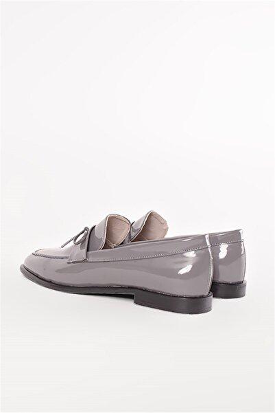 Shoes & More Kadın  Gri Rugan Ayakkabı