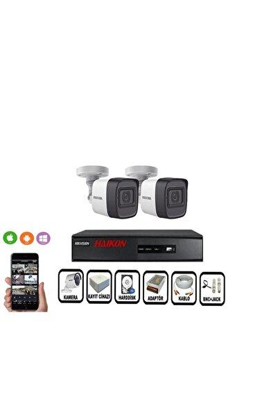 Haikon 2 Kameralı Güvenlik Paket Set Hdd Dahil Gece Görüşlü Eksiksiz Paket 2