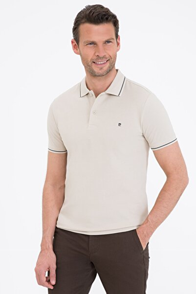 Pierre Cardin Taş Slim Fit Basic Polo Yaka T-Shirt