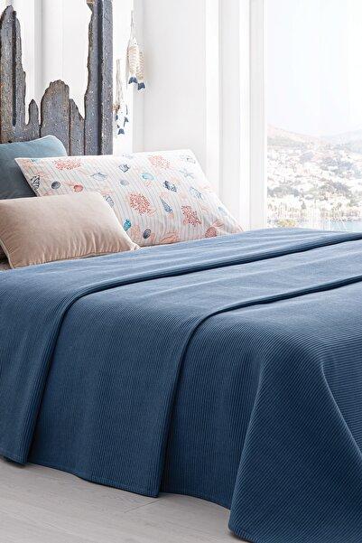 Yataş Bedding Aqua Pike Takımı %100 Pamuklu Pike Lacivert Çift Kişilik 200x230 Cm