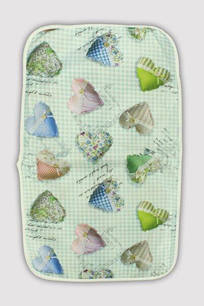 Peki Karışık Desen Ince Sünger Dolgulu Polyester Alt Açma Minderi 70x45 cm