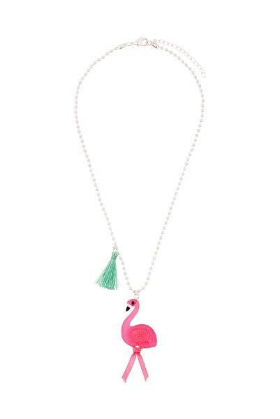 Accessorize Flora Flamingo Püskül Kolye